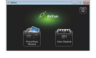 riprodurre file con airfun