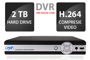 DVR cu 8 canale model PNI House 3708, hard 2 terab