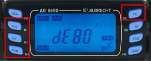 display Statie radio CB Albrecht AE 6690 Cod 12669