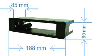 Carcasa montaj Albrecht 1 DIN pentru statie AE 619