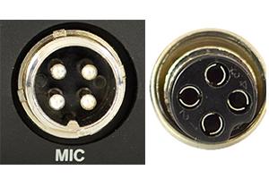 statie radio microfon 4 pini