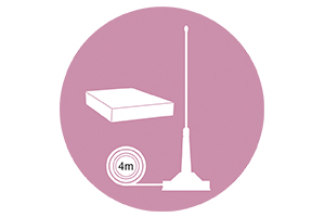 Antena CB PNI ML160 lungime 145 cm si magnet