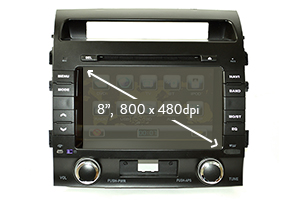 GPS + DVD + TV navigációs rendszer