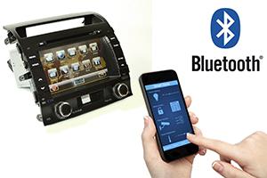 GPS + DVD + TV navigációs rendszer a Toyota Land számára