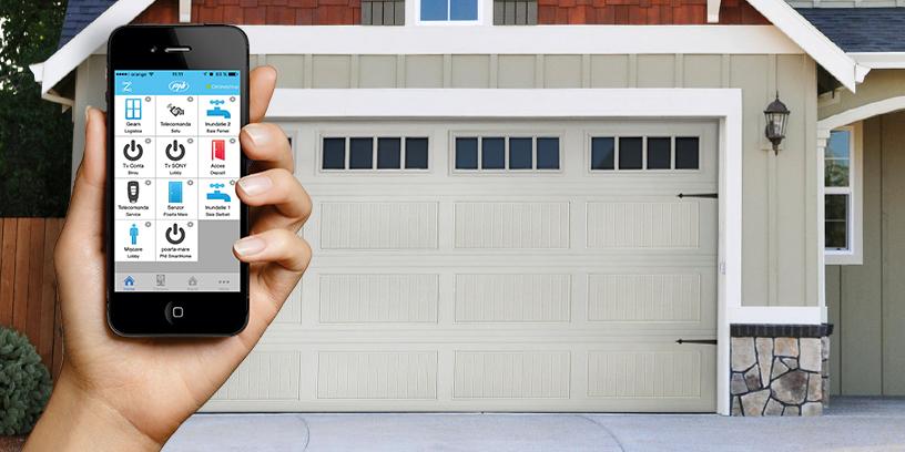 inteligentny przycisk garażu drzwi