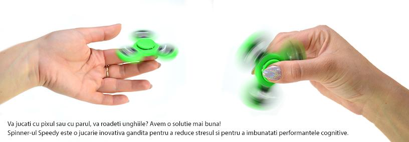 Jucarie antistres PNI Speedy Green culoare verde