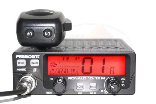 Statie radio CB President RONALD ASC 10/12M cu...