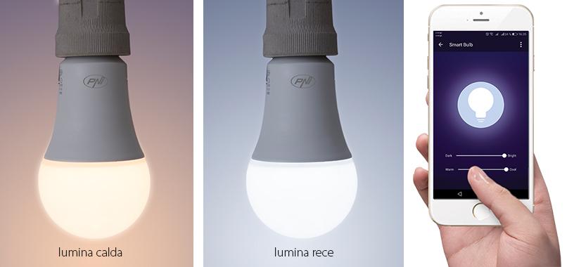 Intelligens villanykörte PNI SmartHome SM9W LED 9w világítással