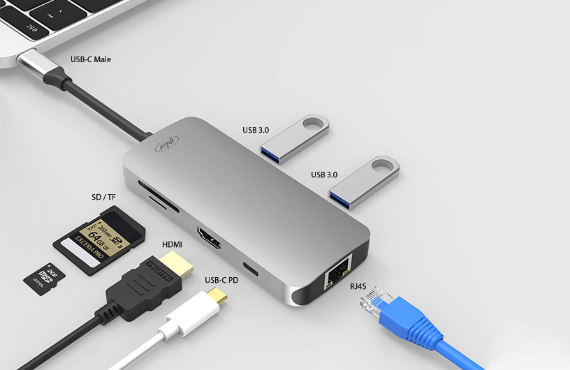 Adaptor multiport PNI MP07 USB-C