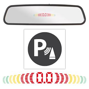Senzori parcare cu afisaj in oglinda