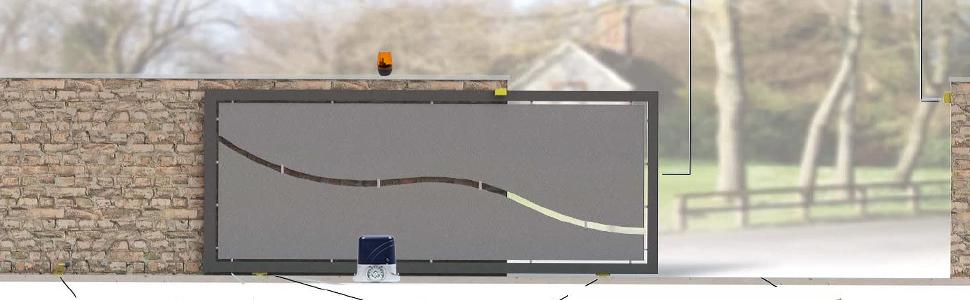 automatizare porti autoportante PNI AP800C