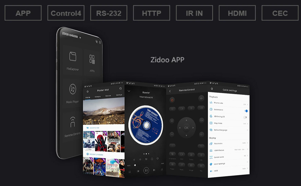 Mini PC cu Android PNI Zidoo UHD2000, 4GB DDR