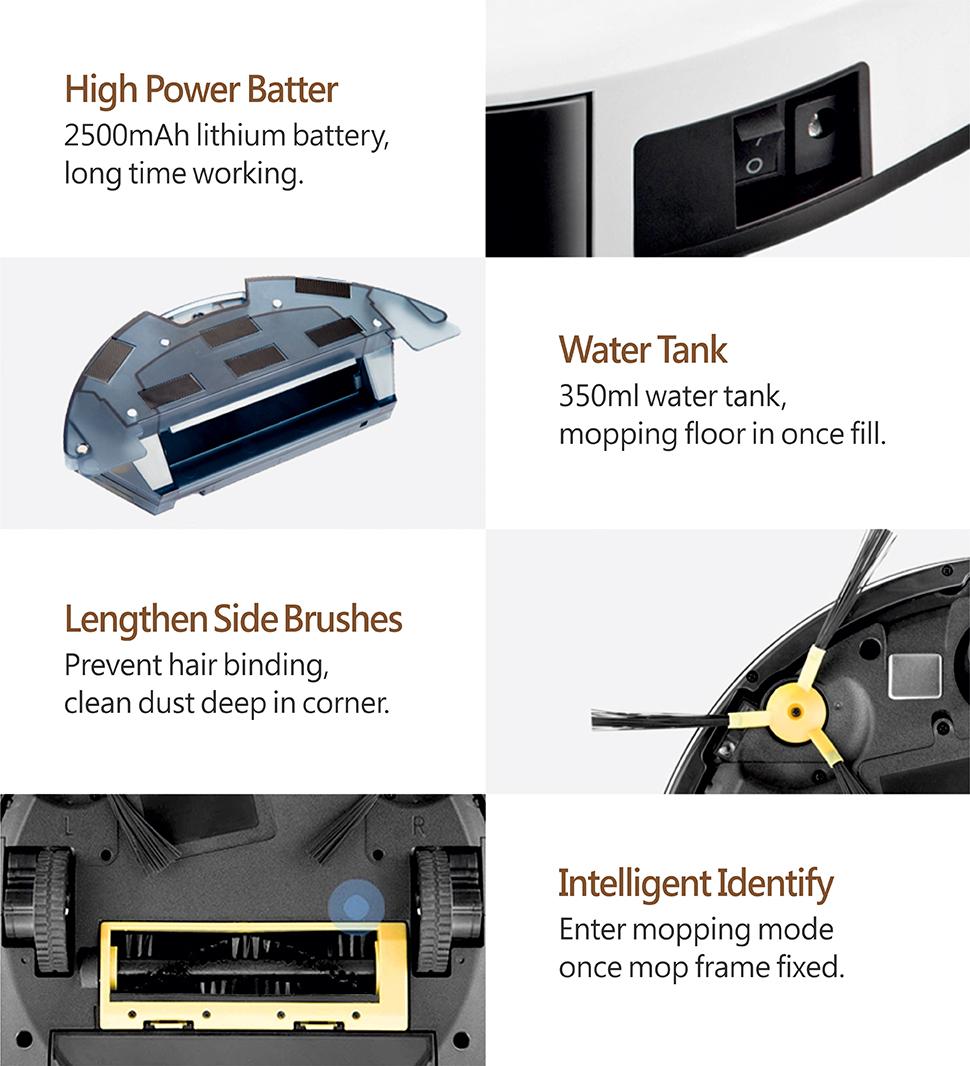 Arukas robottolmuimeja PNI SafeHome Cleaner PTV35 WiFi