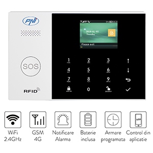 Sistem de alarma wireless PNI SafeHouse HS600 Wifi GSM 4G