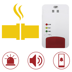 Kit sensore gas intelligente ed elettrovalvola WiFi PNI Safe House Smart Gas 300