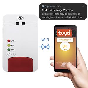 Kit senzor gaz inteligent si electrovalva PNI Safe House Smart Gas 300 WiFi
