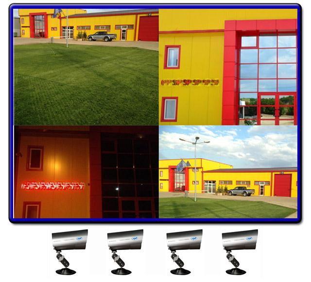 Kit Supraveghere Cctv Sistem Dvr 4 Camere Exterior Internet Cabluri Hdmi
